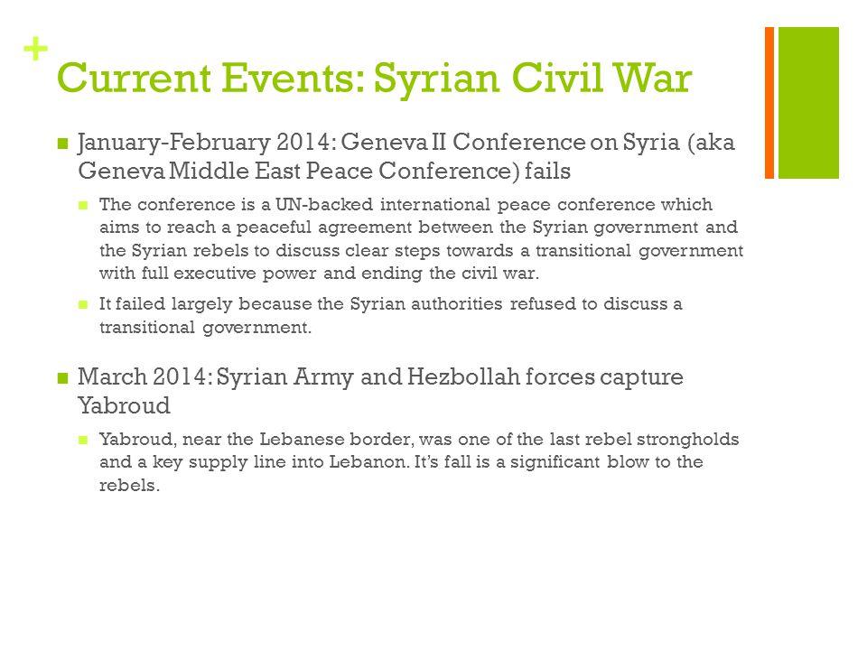 Current Events: Syrian Civil War