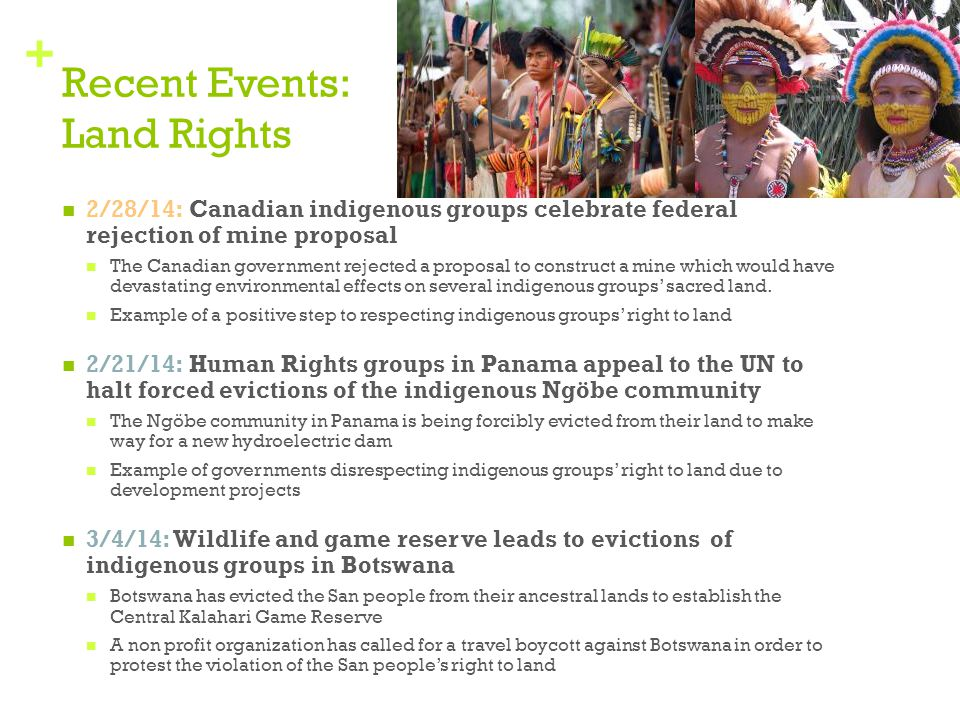 Recent Events: Land Rights