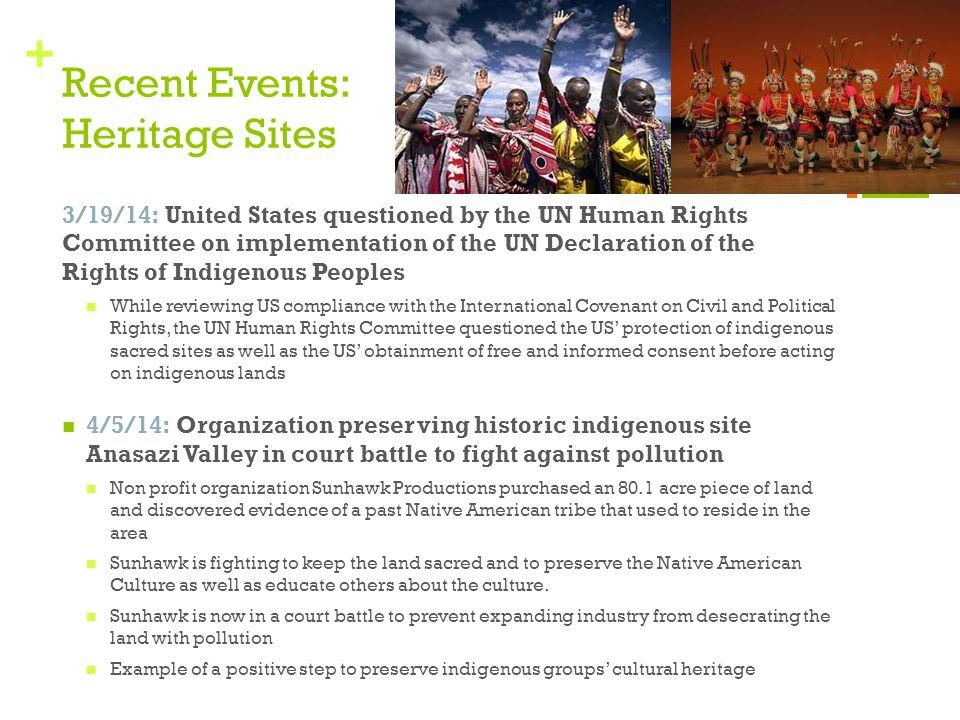 Recent Events: Heritage Sites