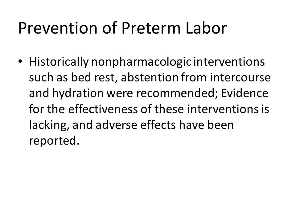 Prevention of Preterm Labor