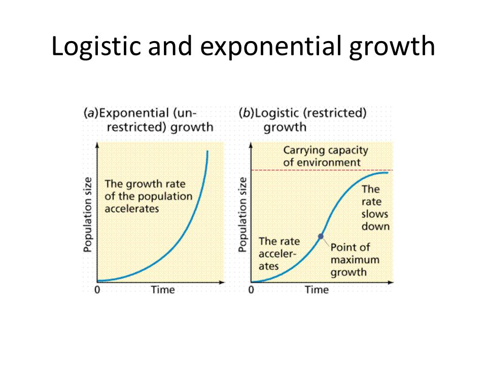Logistic and exponential growth
