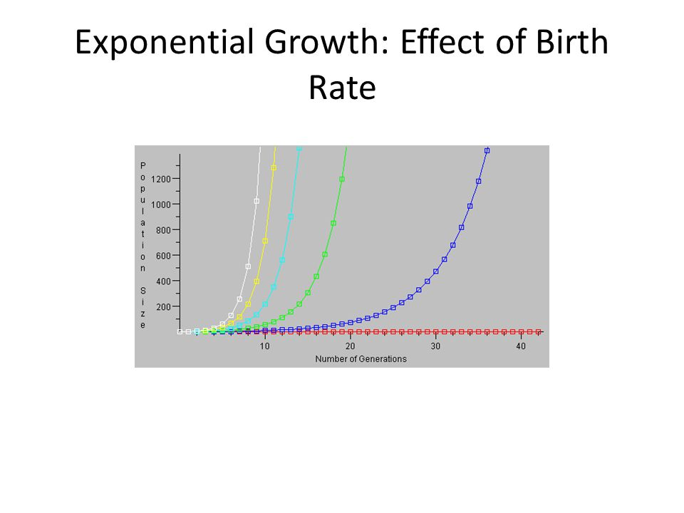 Exponential Growth: Effect of Birth Rate