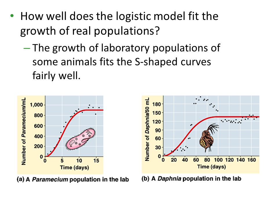 How well does the logistic model fit the growth of real populations
