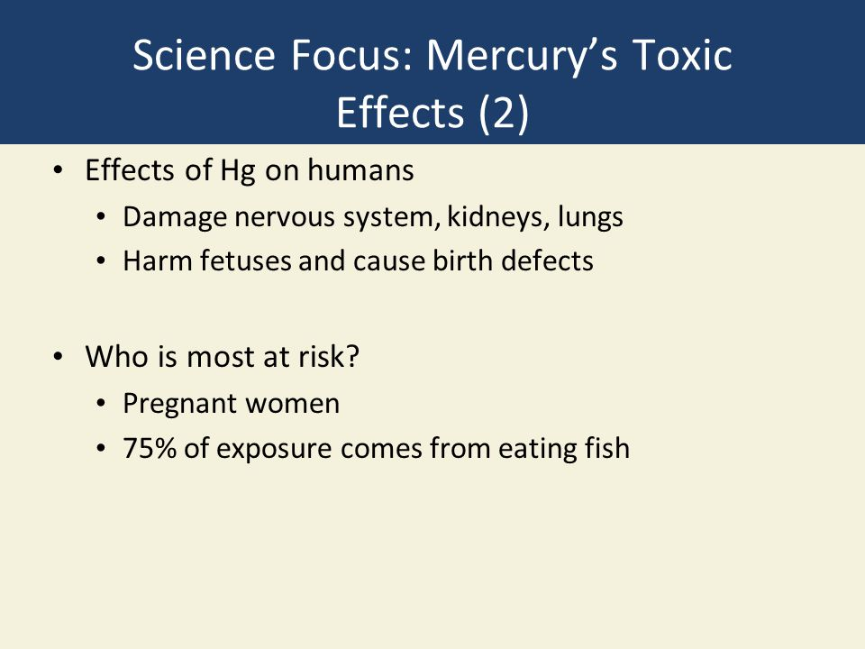 Science Focus: Mercury's Toxic Effects (2)