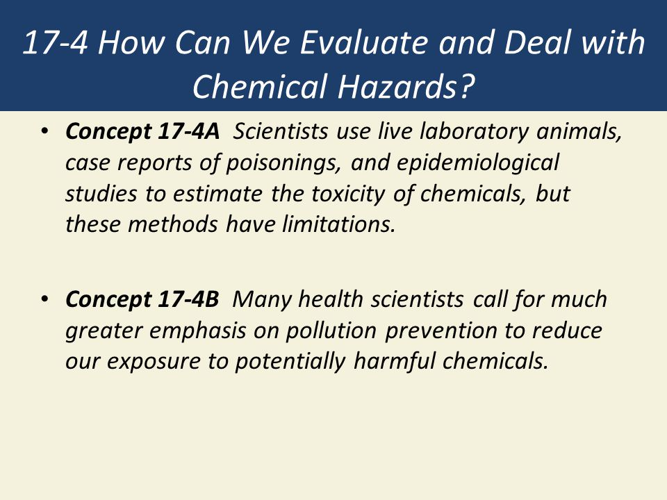 17-4 How Can We Evaluate and Deal with Chemical Hazards