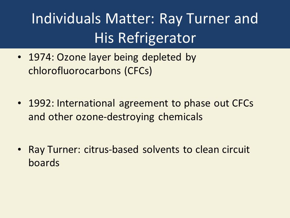 Individuals Matter: Ray Turner and His Refrigerator