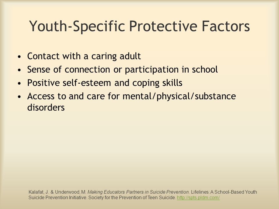 Youth-Specific Protective Factors