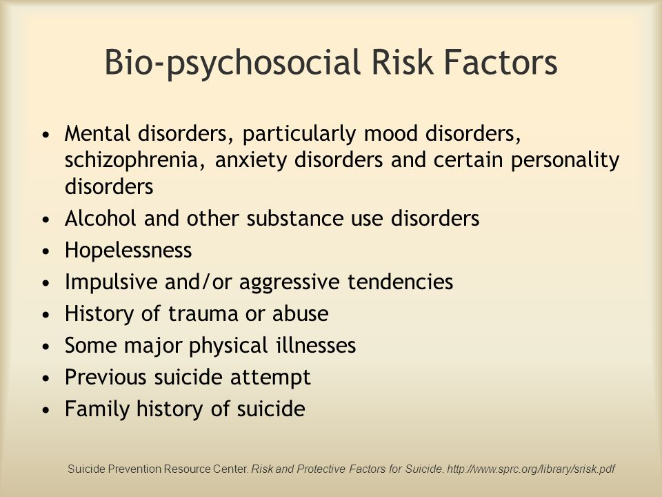 Bio-psychosocial Risk Factors