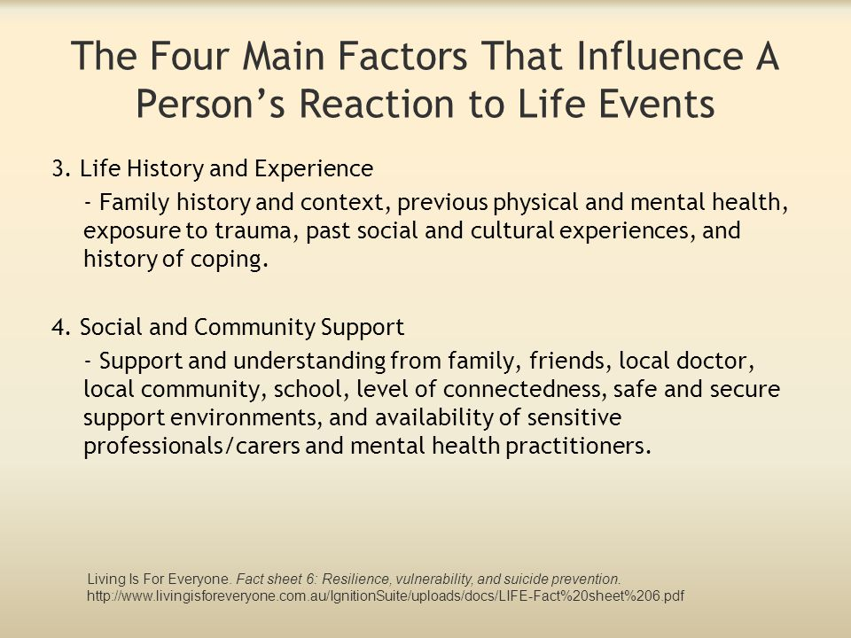The Four Main Factors That Influence A Person's Reaction to Life Events