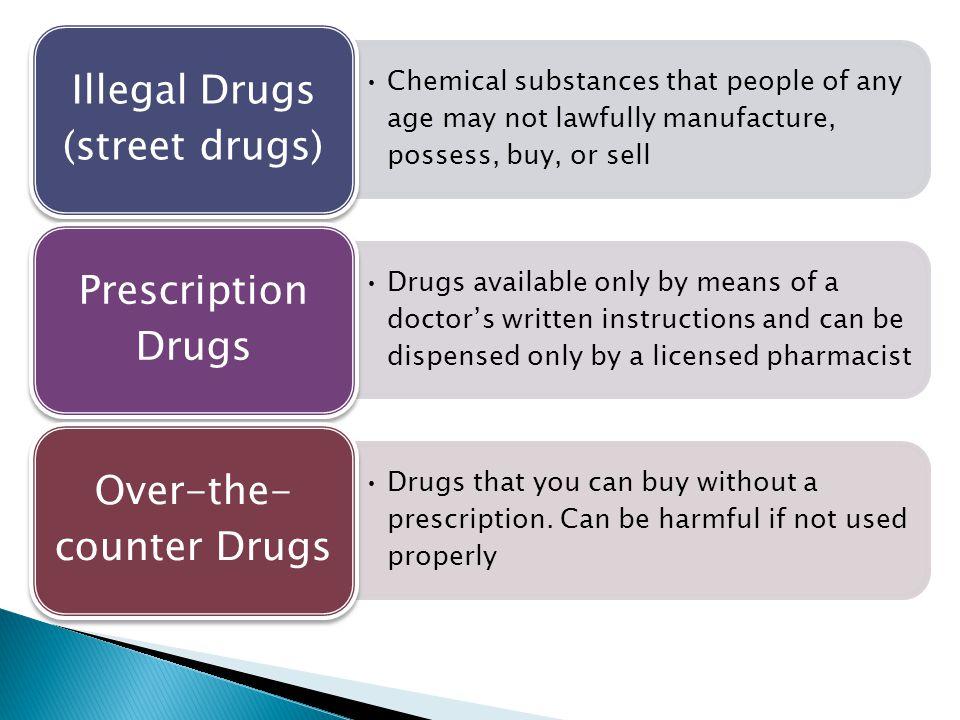 Illegal Drugs (street drugs)