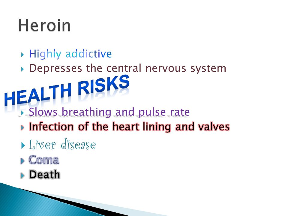 Health Risks Heroin Liver disease Highly addictive