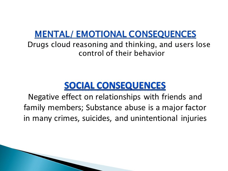 Mental/ Emotional Consequences