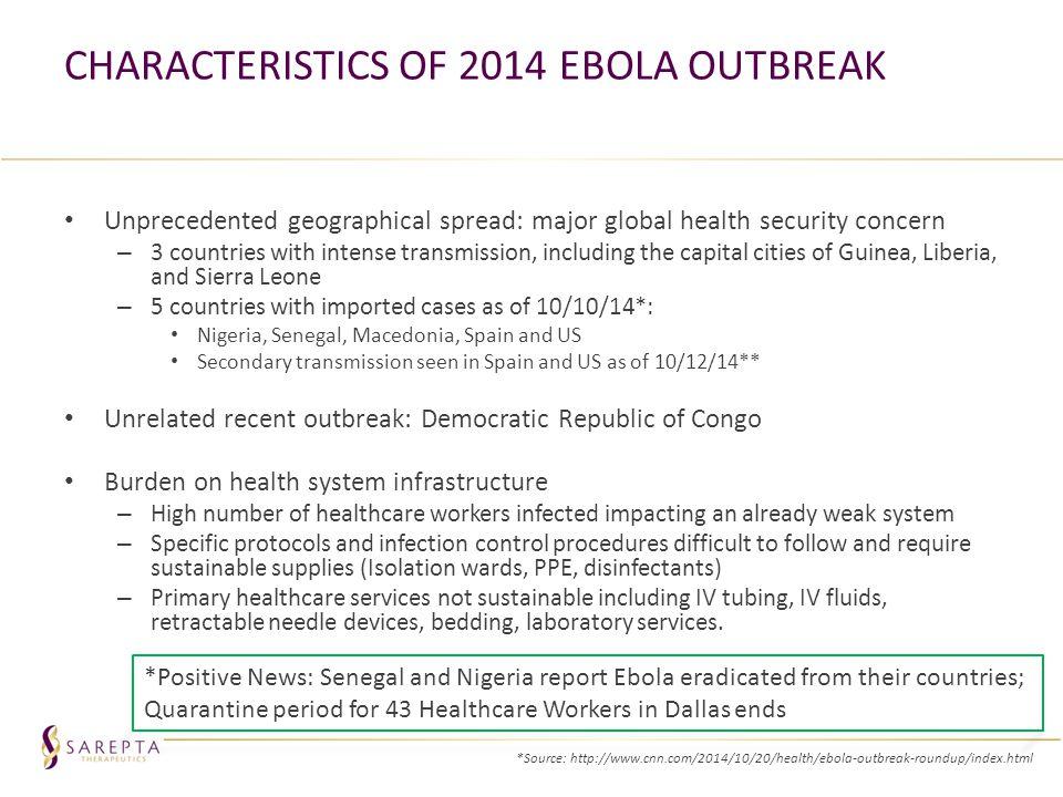 Characteristics of 2014 Ebola Outbreak