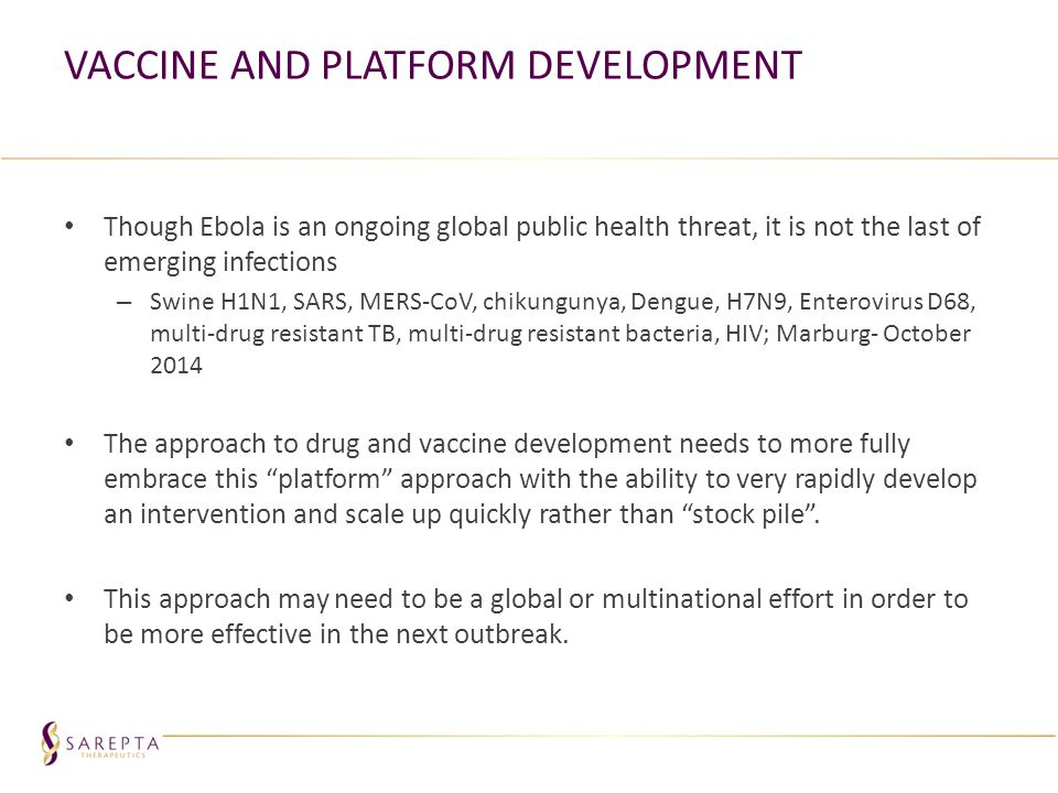 Vaccine and Platform Development