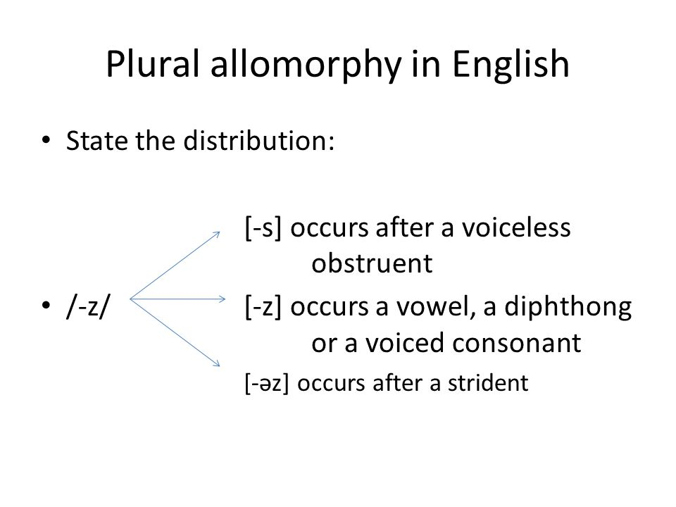Plural allomorphy in English