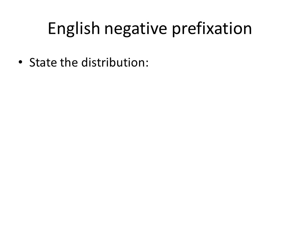 English negative prefixation