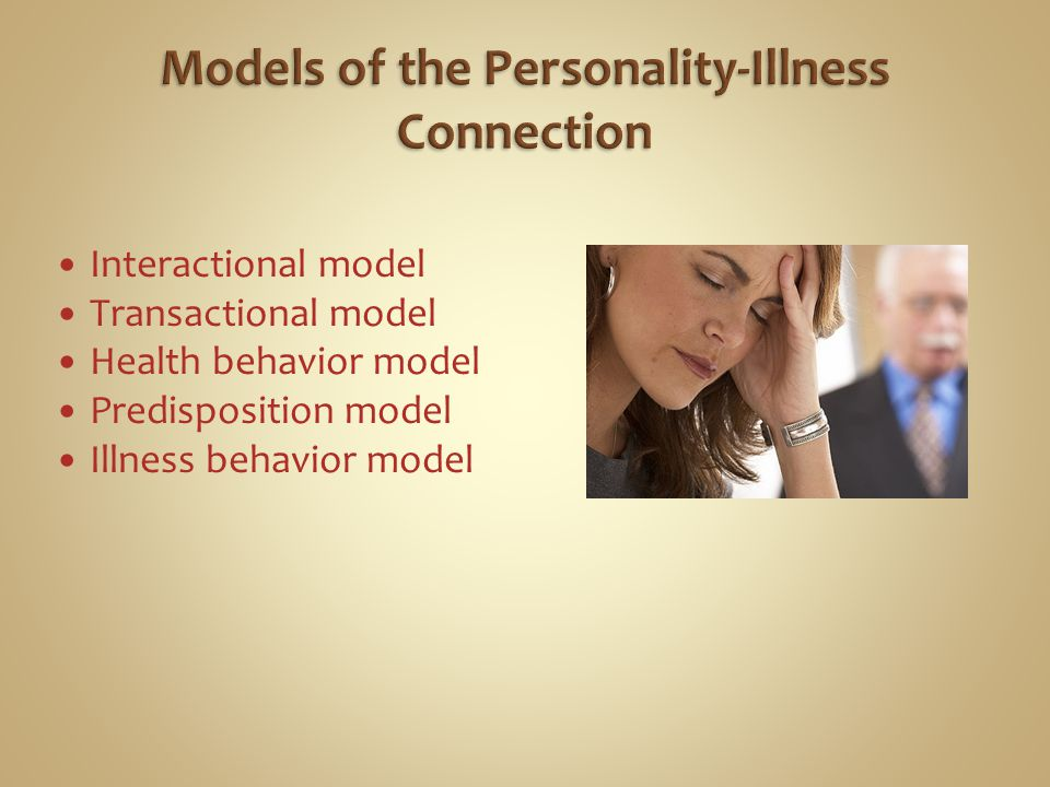 Models of the Personality-Illness Connection