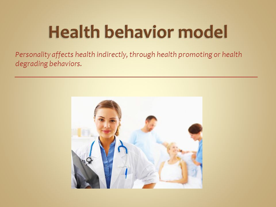 Health behavior model