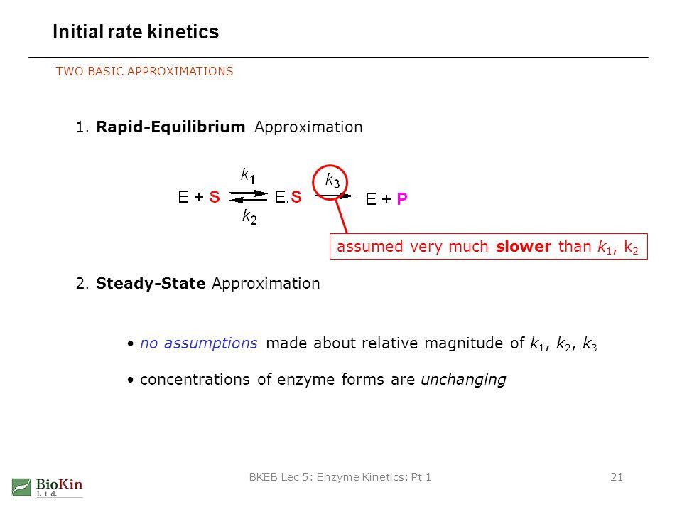BKEB Lec 5: Enzyme Kinetics: Pt 1