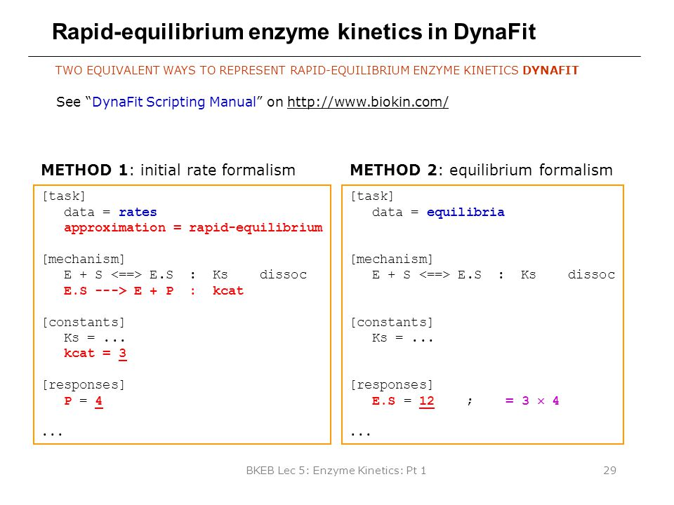 Rapid-equilibrium enzyme kinetics in DynaFit