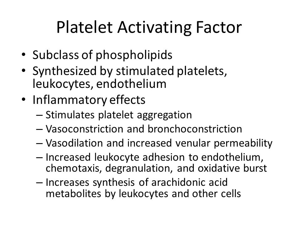 Platelet Activating Factor