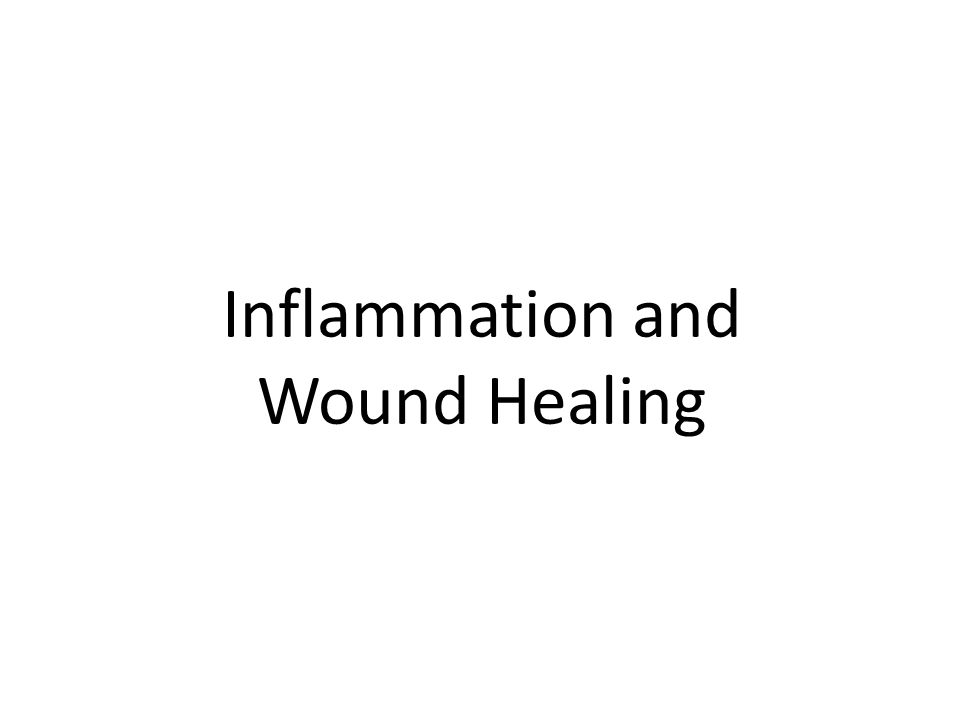 Inflammation and Wound Healing