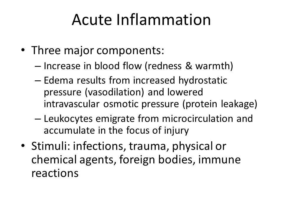 Acute Inflammation Three major components: