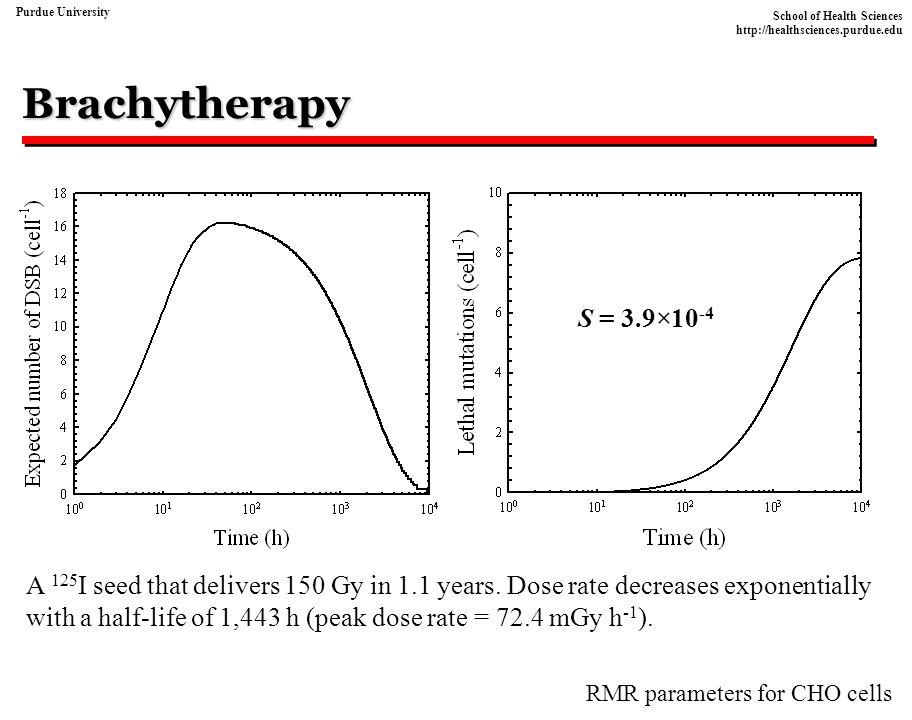 Brachytherapy S = 3.9×10-4.