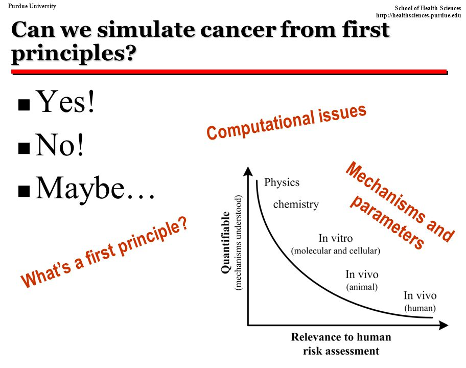 Can we simulate cancer from first principles