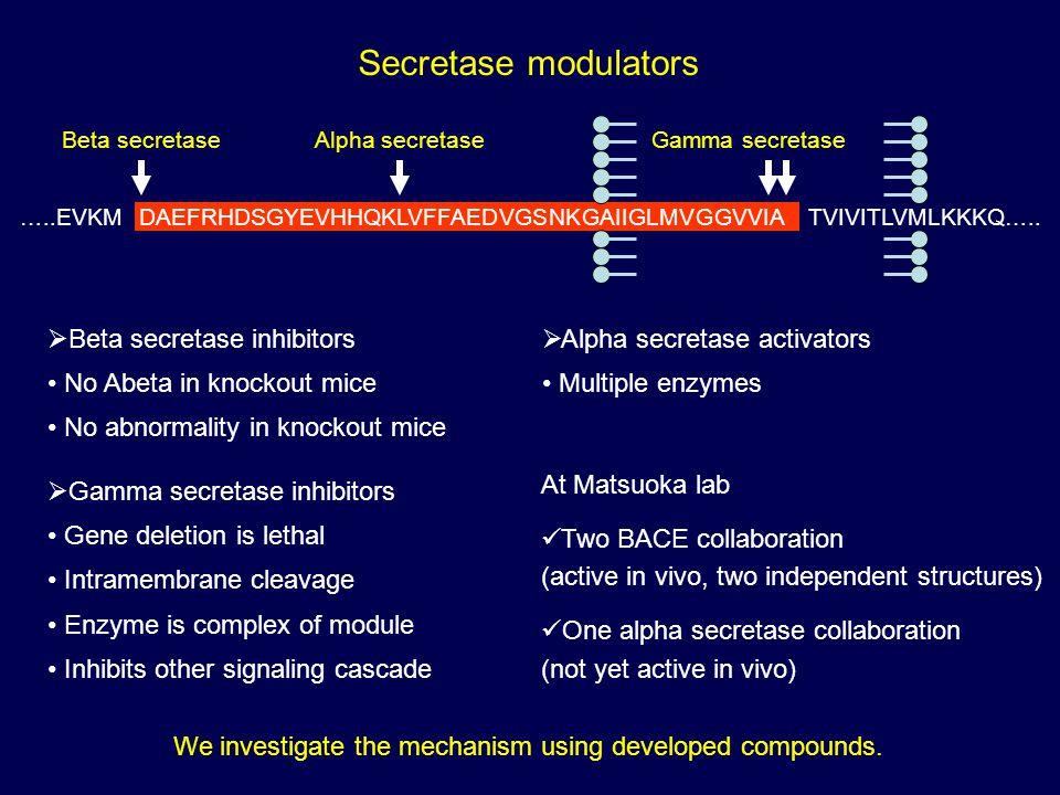 Secretase modulators Beta secretase inhibitors