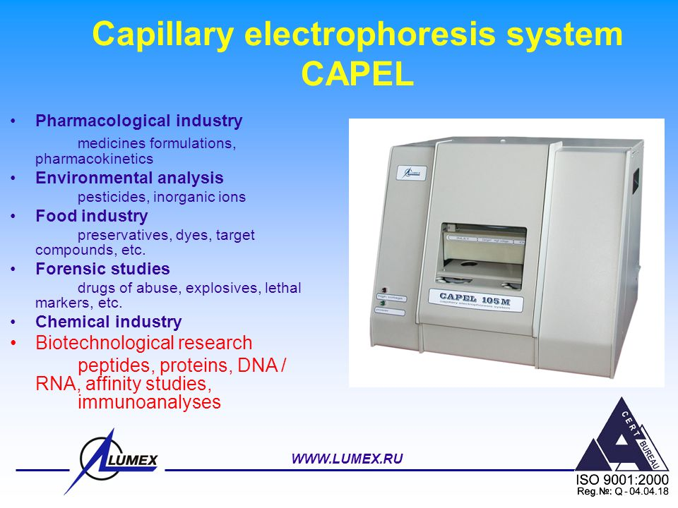 Capillary electrophoresis system CAPEL