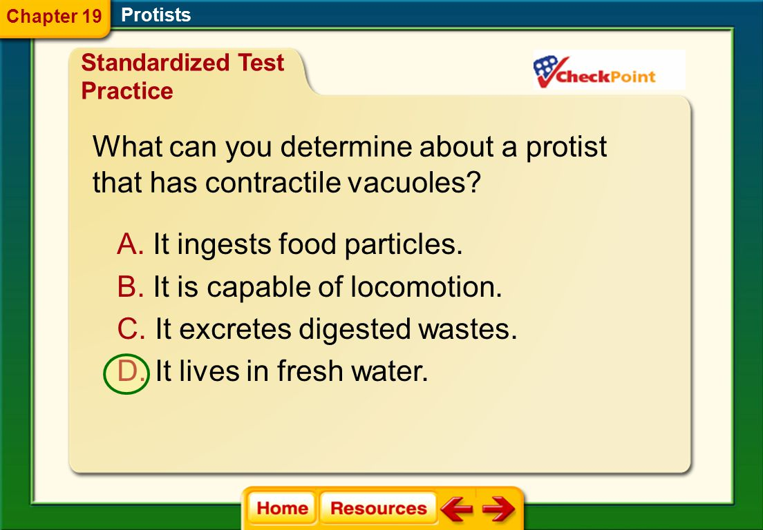 What can you determine about a protist that has contractile vacuoles