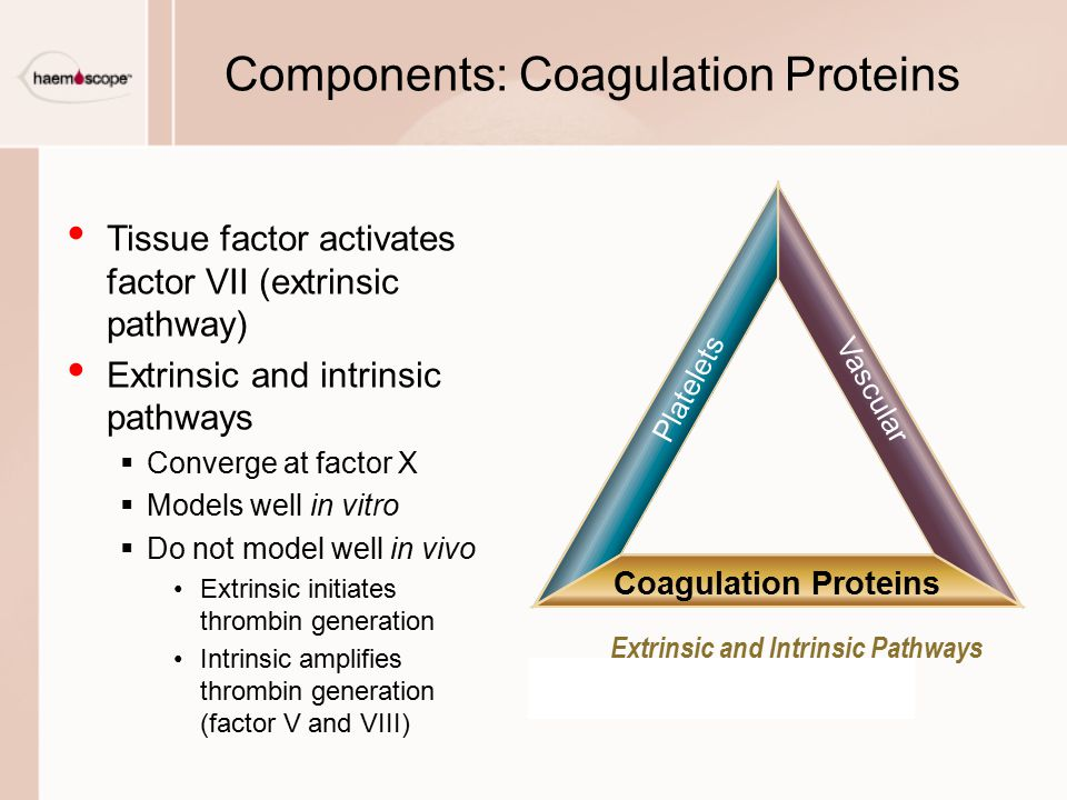 Components: Coagulation Proteins