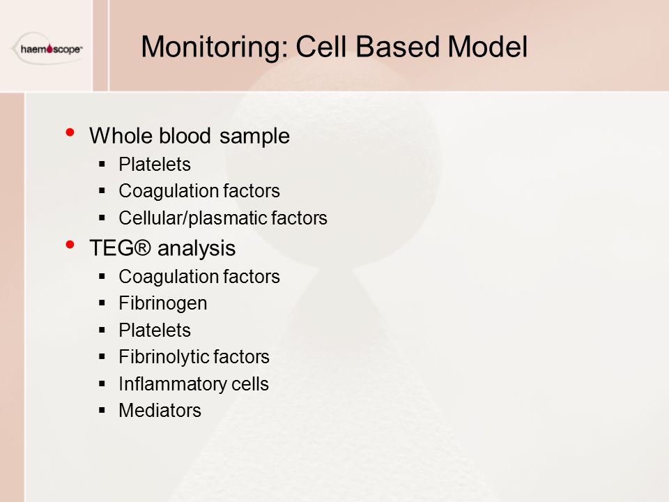 Monitoring: Cell Based Model