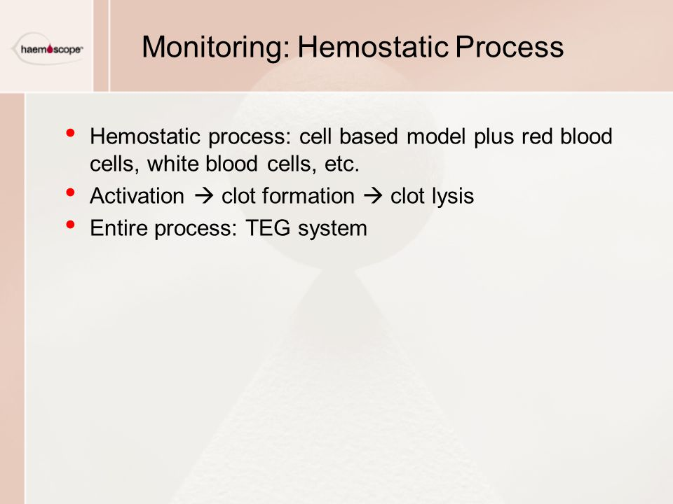 Monitoring: Hemostatic Process