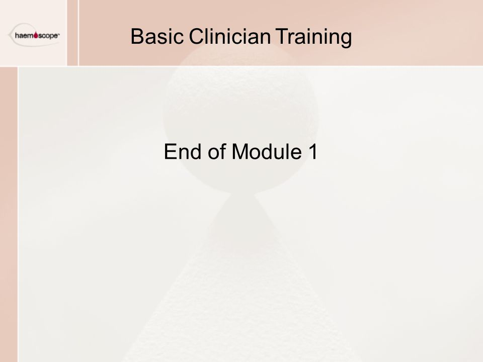 Basic Clinician Training