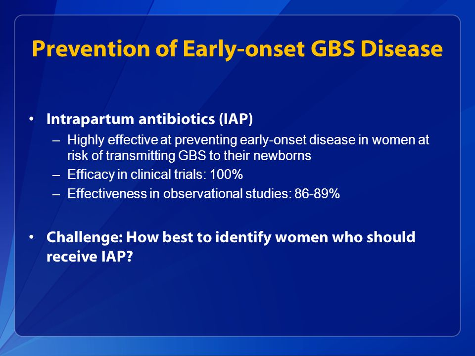 Prevention of Early-onset GBS Disease