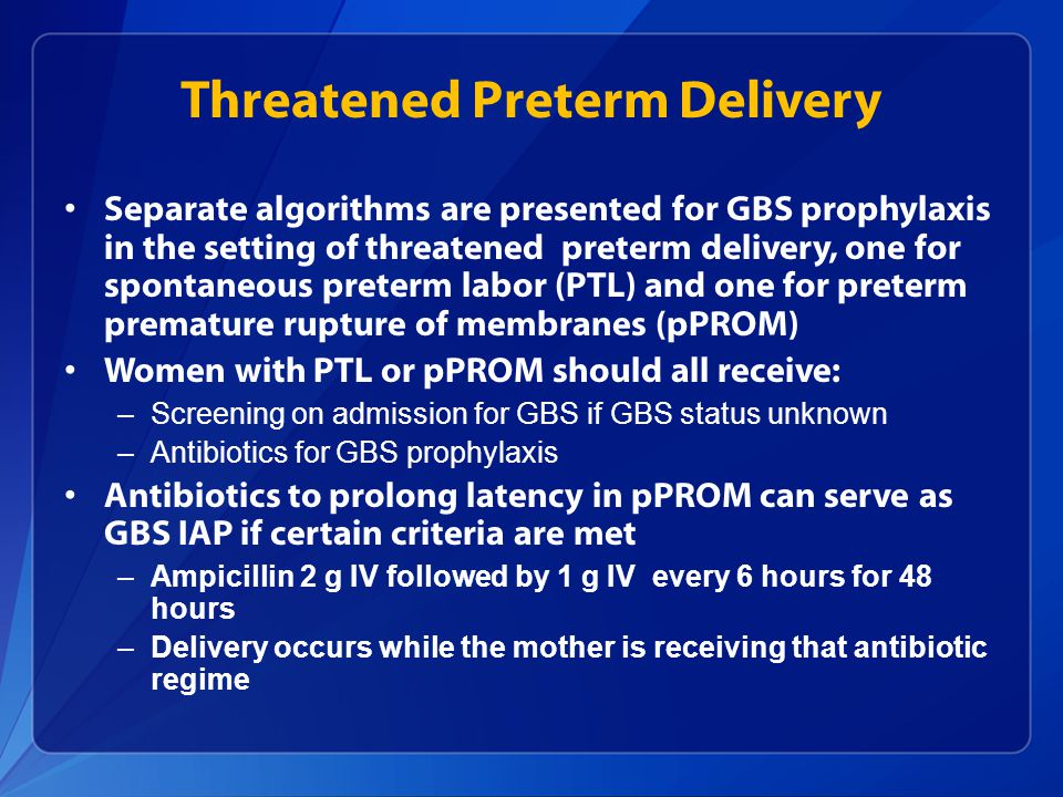 Threatened Preterm Delivery