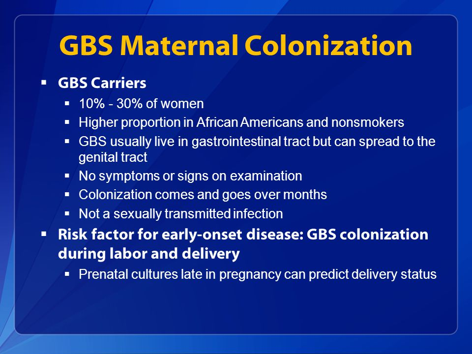 GBS Maternal Colonization