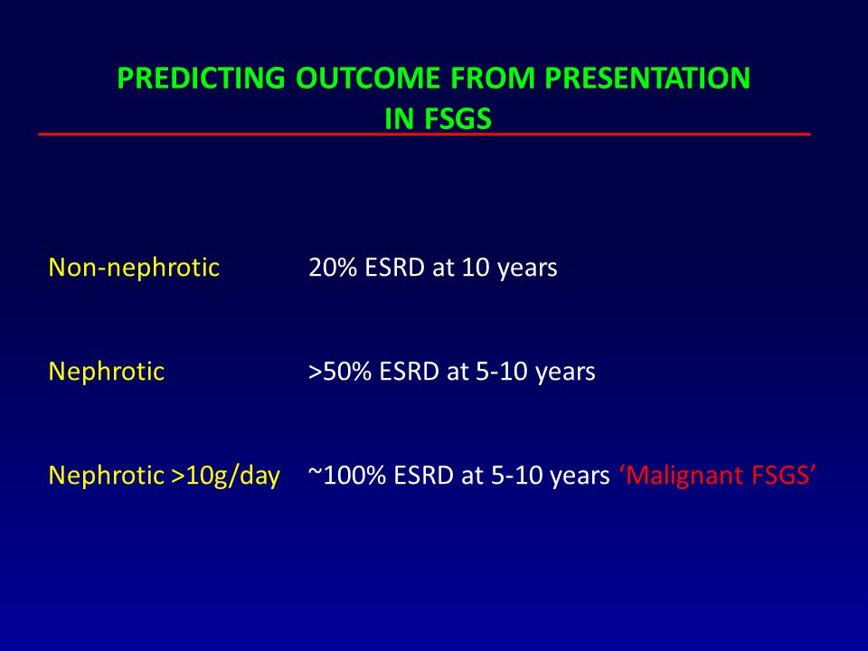 PREDICTING OUTCOME FROM PRESENTATION