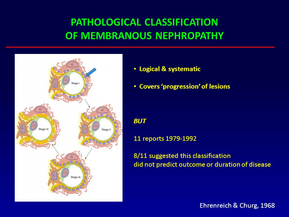 PATHOLOGICAL CLASSIFICATION OF MEMBRANOUS NEPHROPATHY