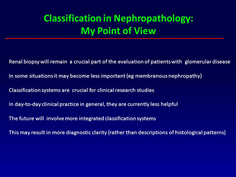 Classification in Nephropathology: