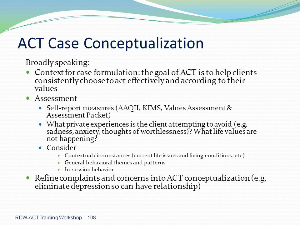 ACT Case Conceptualization
