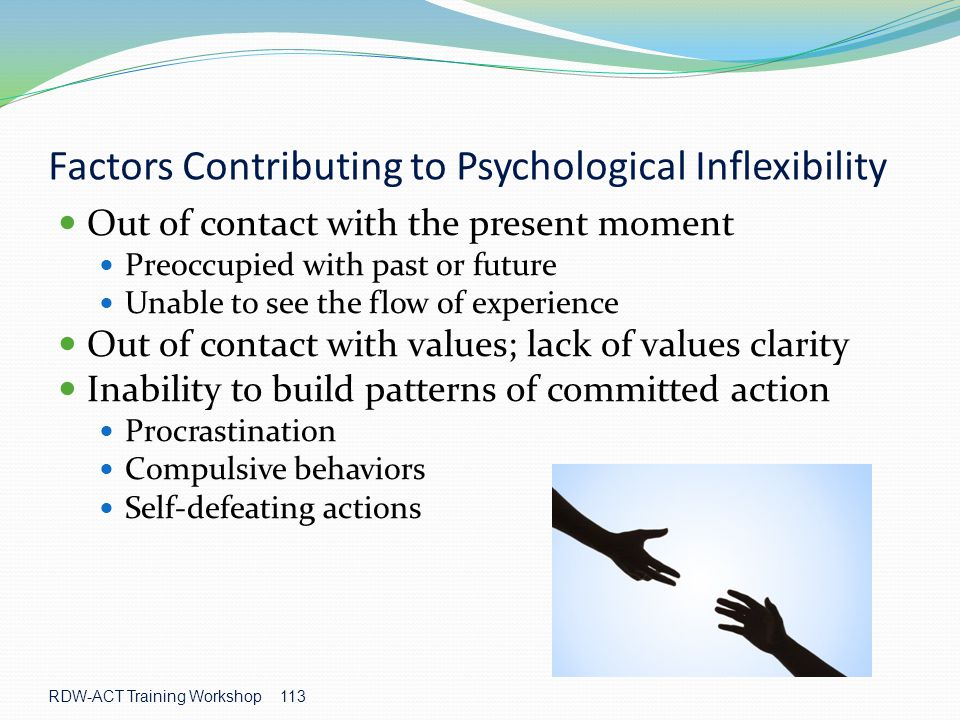 Factors Contributing to Psychological Inflexibility