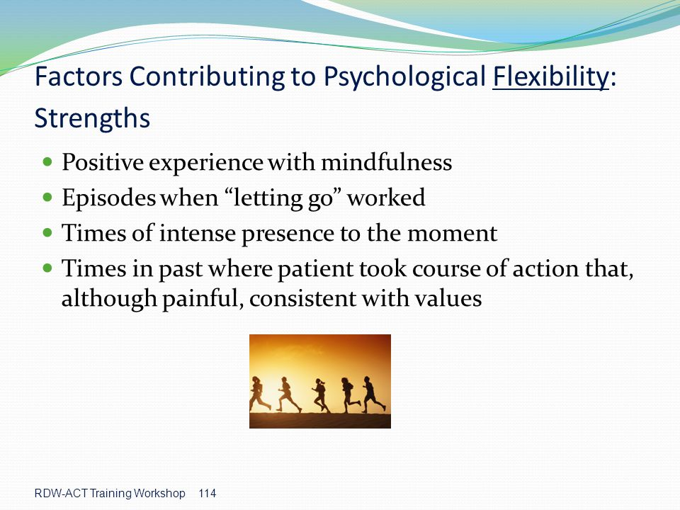 Factors Contributing to Psychological Flexibility: Strengths