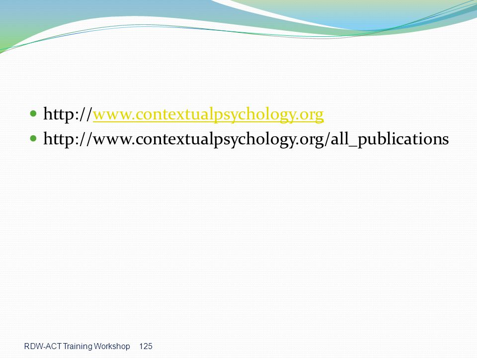 http://www.contextualpsychology.org http://www.contextualpsychology.org/all_publications.