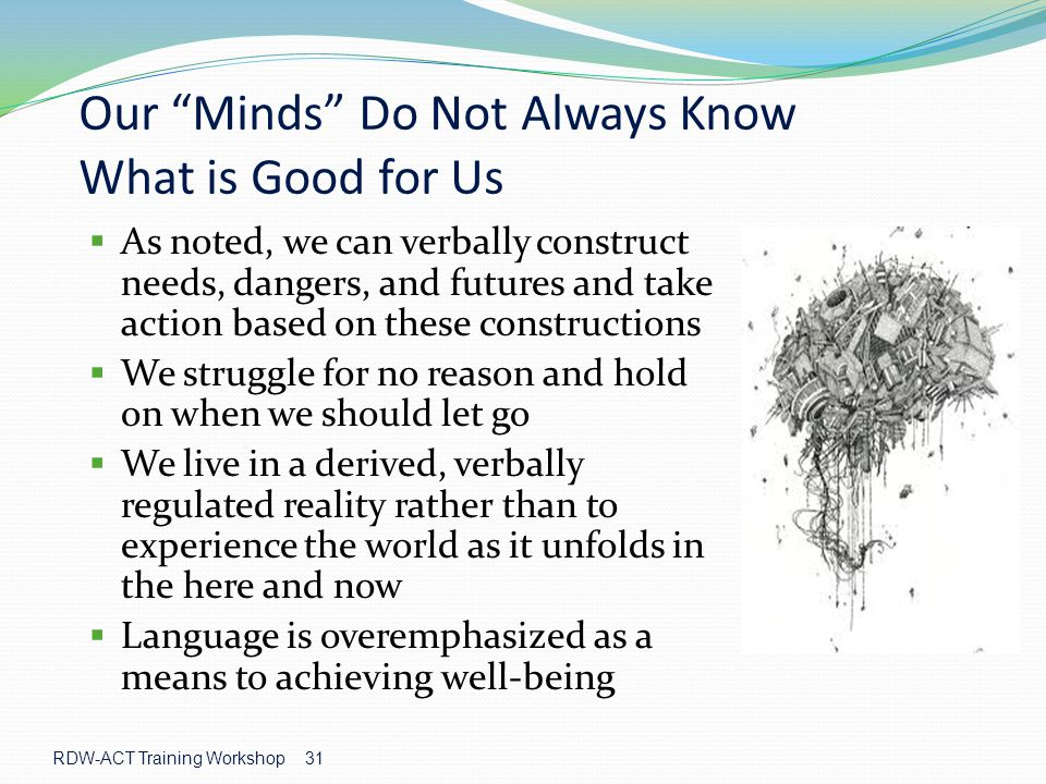 Our Minds Do Not Always Know What is Good for Us
