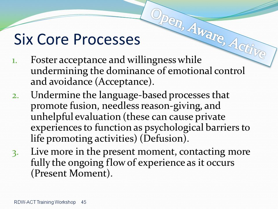 Six Core Processes Open, Aware, Active