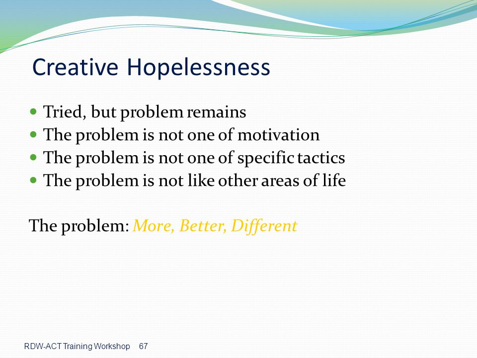 Creative Hopelessness