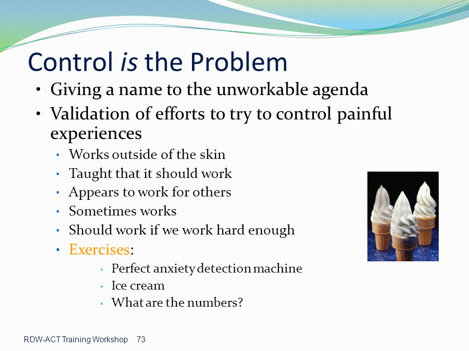 Control is the Problem Giving a name to the unworkable agenda